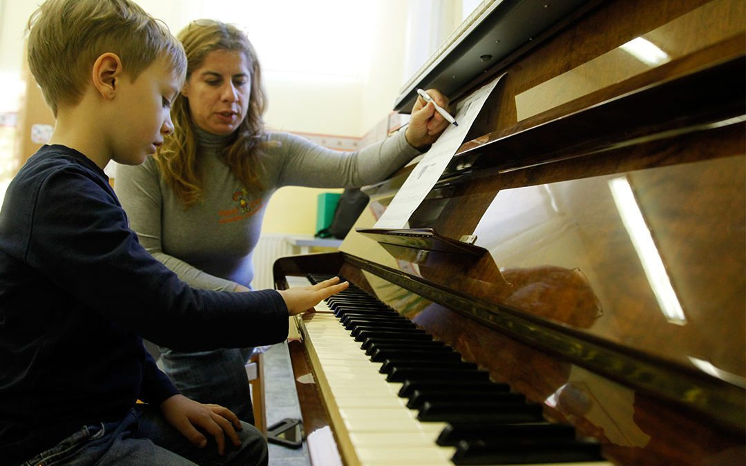 Piano lessons in the Budapest kindergarten